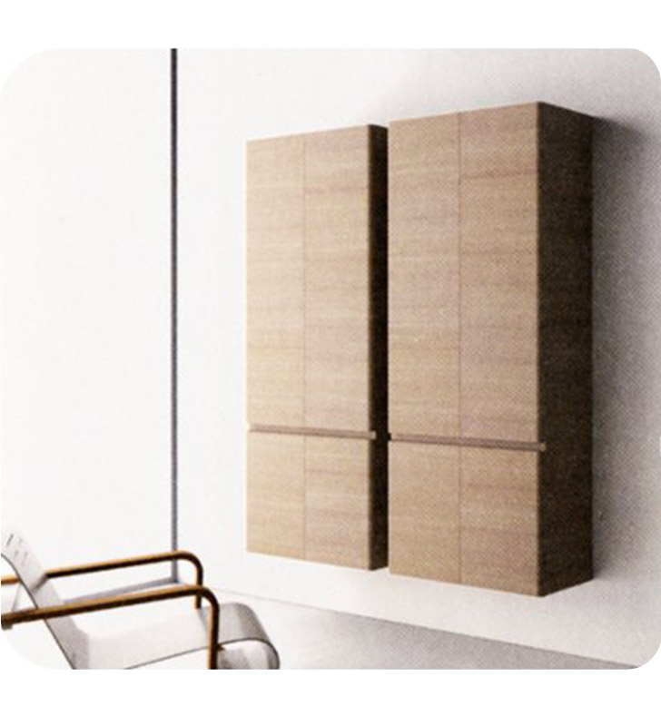 Catalano SF0704DO-V01 Sfera Tall 70 Wall Cabinet With Finish: Walnut Burl (Wood Veneer)