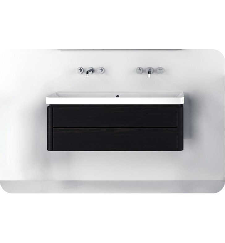 Catalano PR1252DR-P09 Proiezioni 125 Vanity Base Cabinet with Two Drawers With Finish: Frost White Flame (Pattern Laminate)