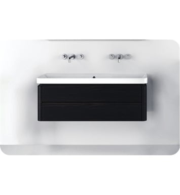 Catalano PR1252DR-H02 Proiezioni 125 Vanity Base Cabinet with Two Drawers With Finish: Ivory (High Gloss)
