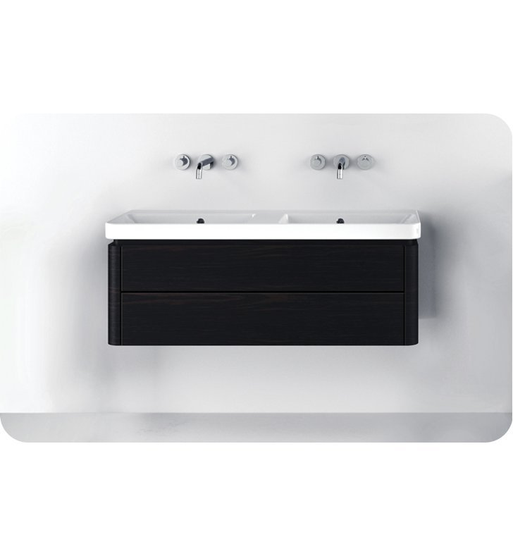 Catalano PR1202DR-V10 Proiezioni 120x42 Vanity Base Cabinet with Two Drawers With Finish: Silver Ash (Wood Veneer)