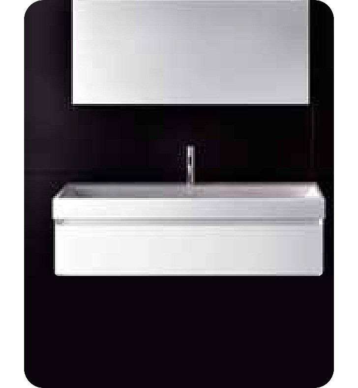 Catalano PM0801DR-H04 Premium 80 Vanity Base Cabinet with One Drawer With Finish: Light Grey (High Gloss)