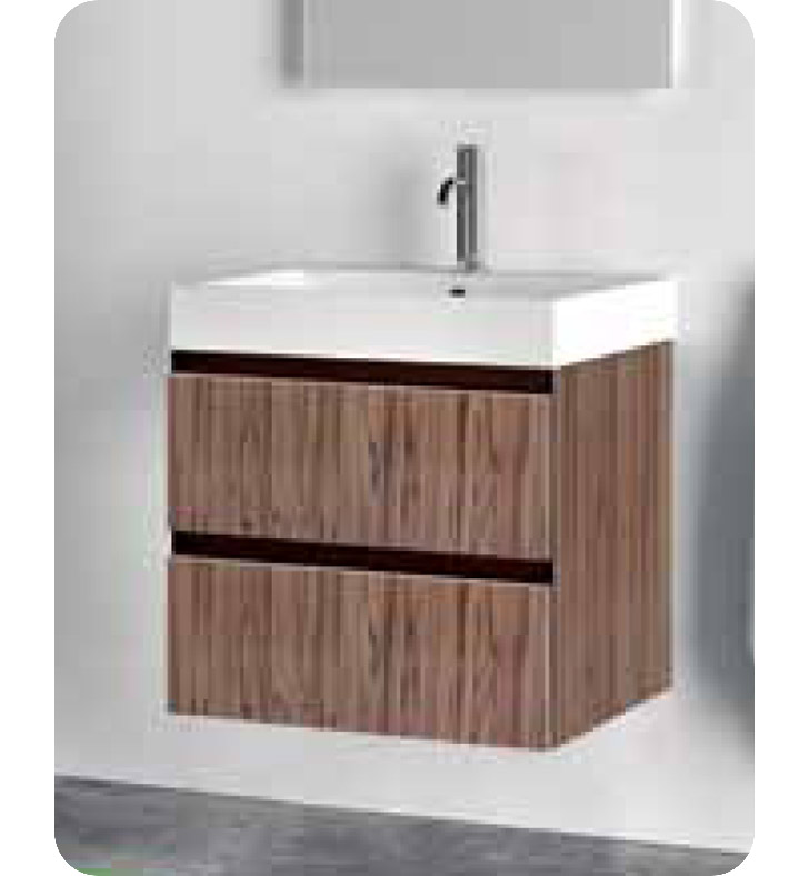 Catalano PM0502DR-P07 Premium 50 Vanity Base Cabinet with Two Drawers With Finish: Wenge Microline (Wood Grain Laminate)