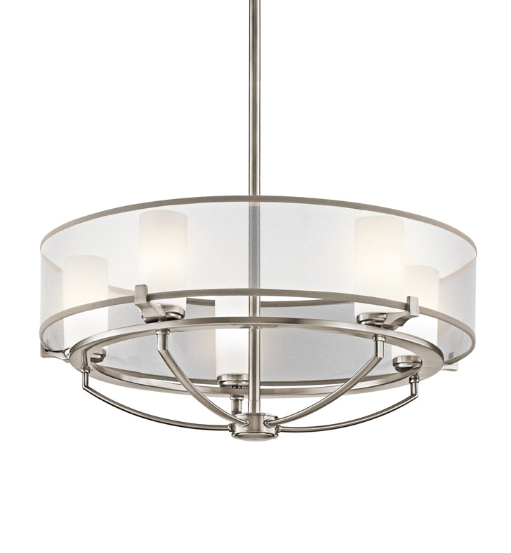 Kichler 42921CLP Saldana Collection Chandelier 5 Light in Classic Pewter