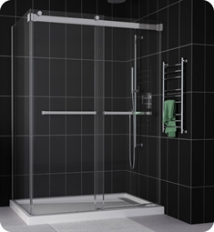 Fleurco NPU48 Gemini Plus Frameless Bypass 48 Sliding Shower Doors with Return Panel