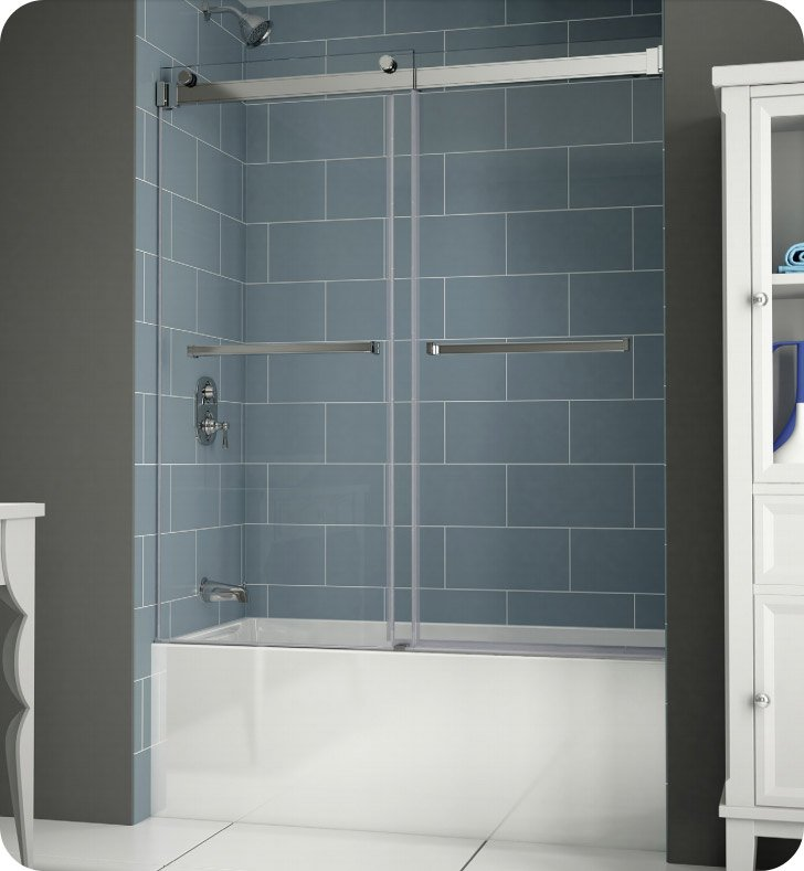 shower tub fleurco products plus gemini with frameless in bypass sliding doors line enclosure