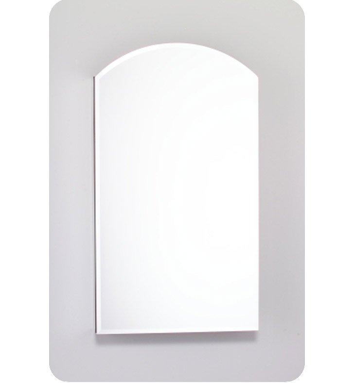 "Robern MC2030D8ABLE4 M Series 19 1/4"" Wide x 8"" Deep Customizable Arched Cabinet With Cabinet Hinge: Left And Mirror Type / Lens: Beveled And Electrical / Lighting / Audio Option: Electrical outlet with Interior Light, Night Light & Defogger"