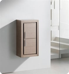 Fresca FST8140GO Gray Oak Bathroom Linen Side Cabinet with 2 Doors