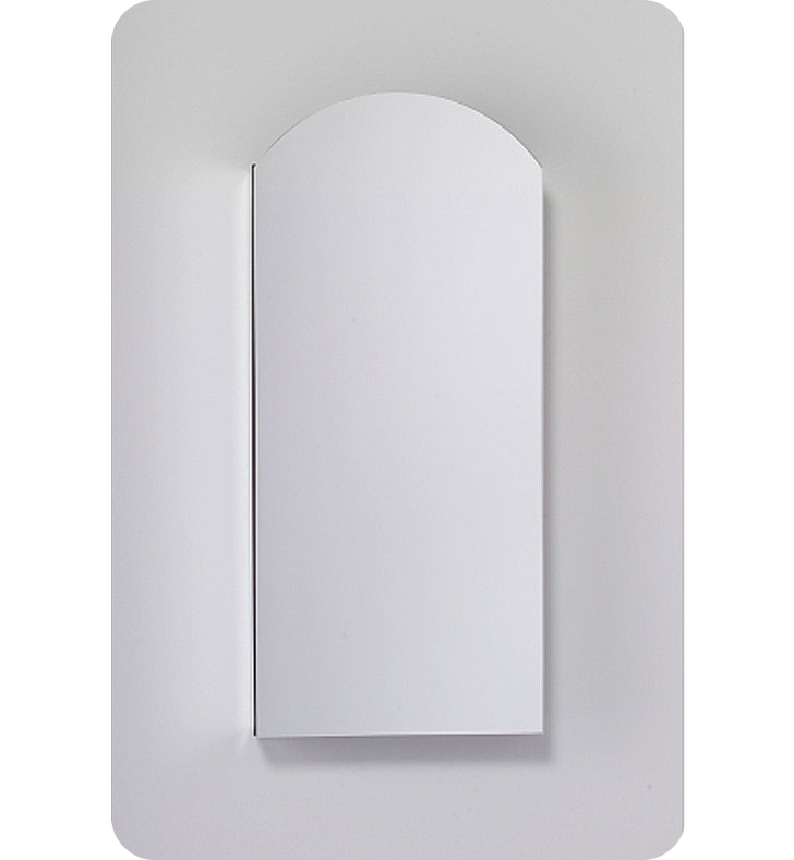 "Robern MC1640D8ABRE4 M Series 15 1/4"" Wide x 8"" Deep Customizable Arched Cabinet With Cabinet Hinge: Right And Mirror Type / Lens: Beveled And Electrical / Lighting / Audio Option: Electrical outlet with Interior Light, Night Light & Defogger"