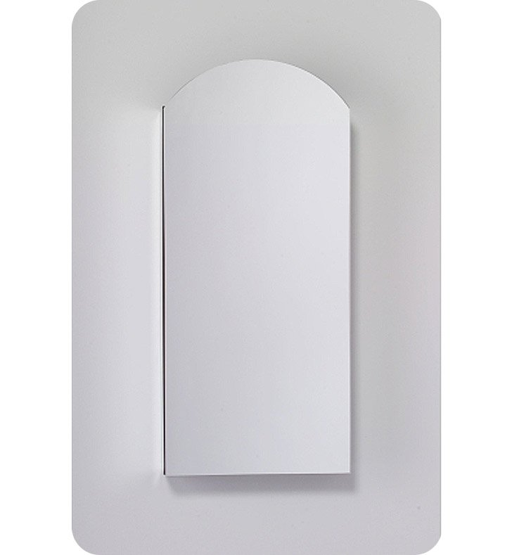 "Robern MC1630D8ABLE2 M Series 15 1/4"" Wide x 8"" Deep Customizable Arched Cabinet With Cabinet Hinge: Left And Mirror Type / Lens: Beveled And Electrical / Lighting / Audio Option: Electrical outlet with Interior Light"