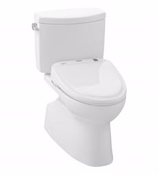 TOTO MW474574CEFG#01 Vespin II Two-Piece Elongated Toilet with 1.28 GPF Single Flush and Washlet+ S300e Washlet