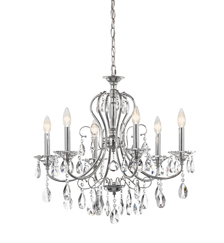 Kichler 43121CH Jules Collection Chandelier 6 Light in Chrome