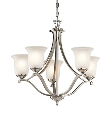 Kichler 43401CLP Wellington Square Collection Chandelier 5 Light in Classic Pewter