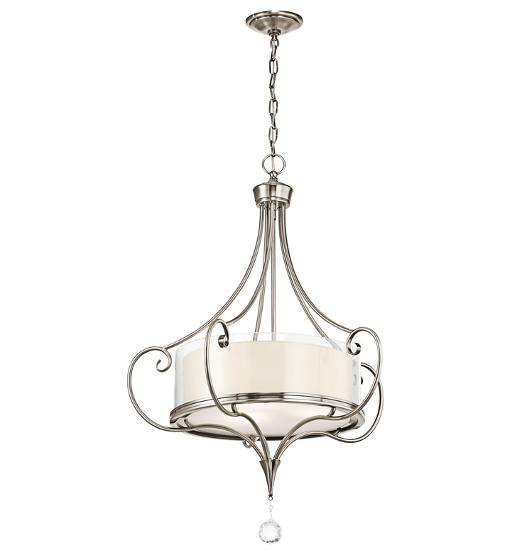 Kichler 42864CLP Lara Collection Chandelier/ Pendant 3 Light With Finish: Classic Pewter