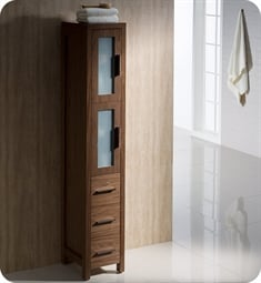 Fresca FST6260WB Torino Tall Bathroom Linen Side Cabinet in Walnut Brown