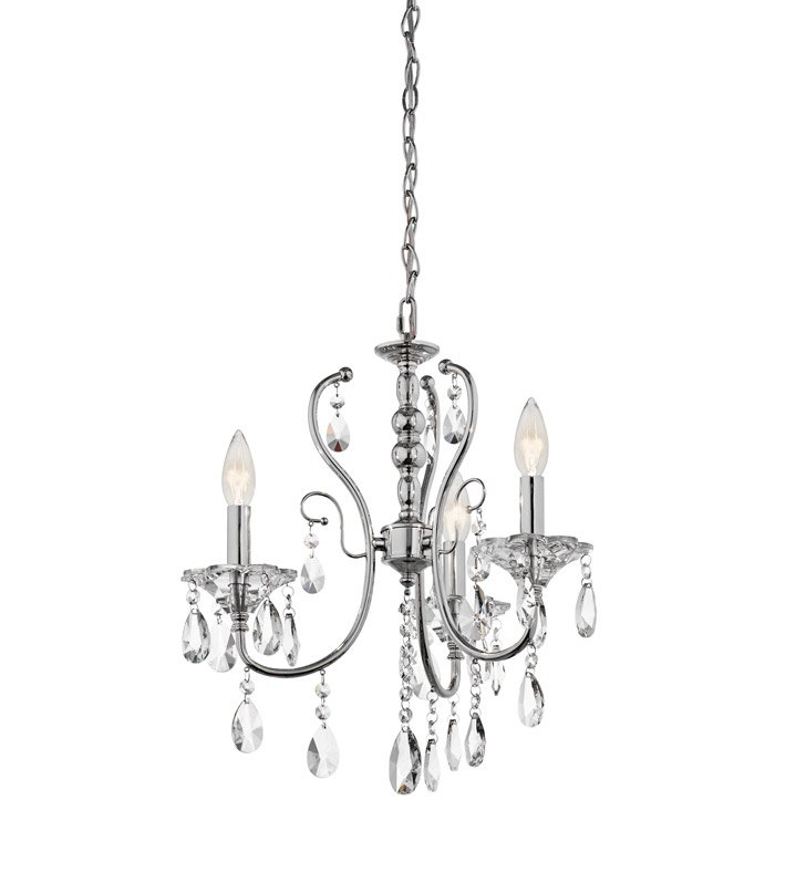 Kichler 43120CH Jules Collection Mini Chandelier 3 Light in Chrome