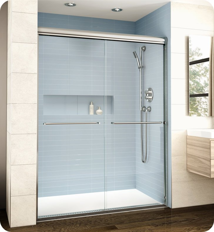 frameless sliding shower door hardware. Fleurco EL172 Banyo Cordoba Bypass Plus 72\ Frameless Sliding Shower Door Hardware
