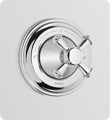 TOTO TS220X#BN Vivian™ Three-Way Diverter Trim with Off - Cross Handle With Finish: Brushed Nickel
