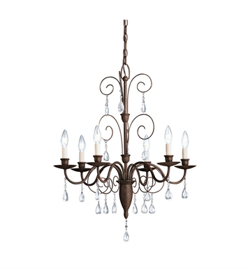 Kichler 1632TZ Barcelona Collection Chandelier 6 Light in Tannery Bronze