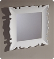 "Fresca Platinum FPMR7512WH Versalles 24"" Bathroom Mirror in White Gloss"