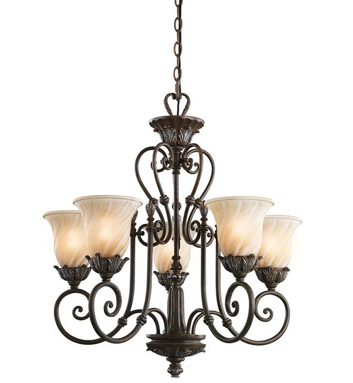 Kichler 42510LZ Sarabella Collection Chandelier 5 Light in Legacy Bronze