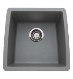 "Blanco 440082 Performa 17 1/2"" Single Bowl Undermount Silgranit Bar Kitchen Sink in Metallic Gray"