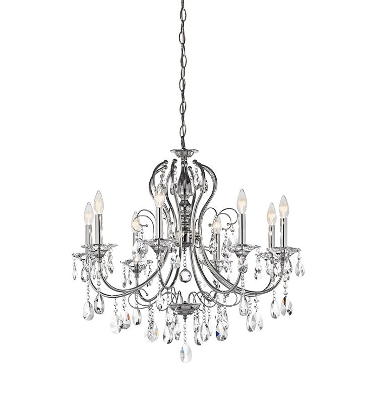 Kichler 43122CH Jules Collection Crystal Chandelier 8 Light in Chrome