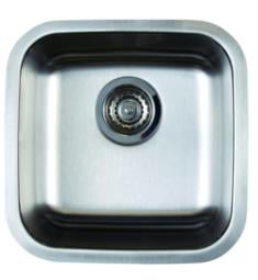 "Blanco 441026 Stellar 15"" Bar Bowl Undermount Stainless Steel Kitchen Sink in Refined Brushed"