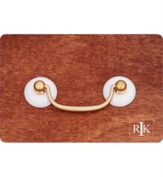 "RK International CP-351 4 1/4"" Porcelain Plain Ends Bail Cabinet Pull in Polished Brass"