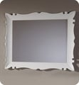 "Fresca Platinum FPMR7516WH Versalles 43"" Bathroom Mirror in White Gloss"