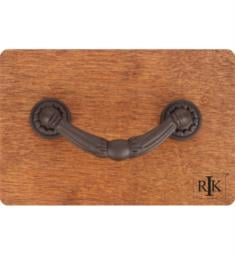 "RK International CP-864 4"" Ornate Drop Cabinet Pull with Petal Bases"