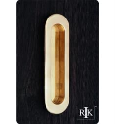 "RK International CF-5633 5 1/2"" Thick Oval Flush Cabinet Cup Pull"