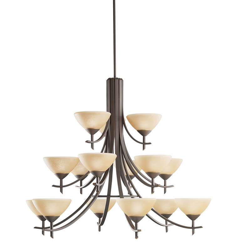 Kichler 1681OZ Olympia Collection Chandelier 15 Light in Olde Bronze