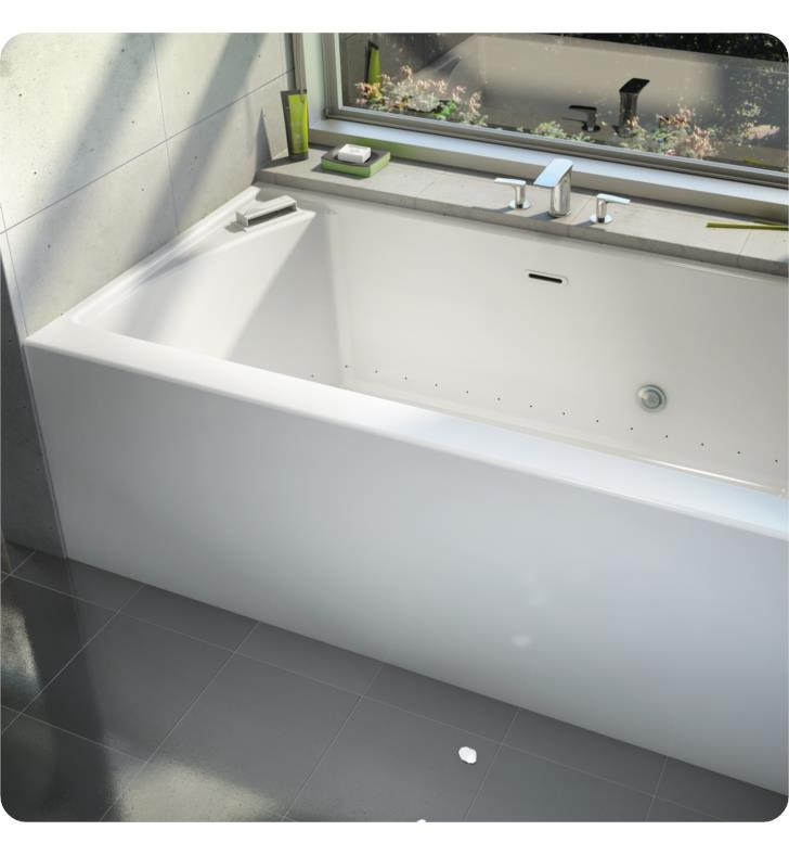 proflo x tub drain and product today with soaking bath free garden home overstock shipping left skirt alcove hand