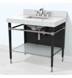 Decolav 5230-BPS Motallegro Freestanding Bathroom Vanity with White Quartz Countertop