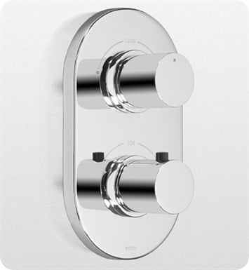 TOTO TS794D Nexus® Thermostatic Mixing Valve Trim with Dual Volume Control