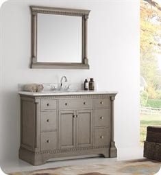 "Kingston 48"" Antique Silver Traditional Bathroom Vanity"
