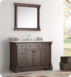 "Kingston 48"" Antique Coffee Traditional Bathroom Vanity"