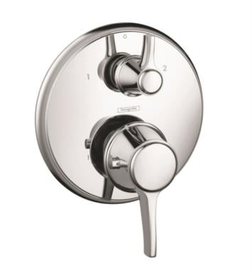 "Hansgrohe 15753001 Ecostat C 6 3/4"" Thermostatic Trim with Volume Control and Diverter With Finish: Chrome"