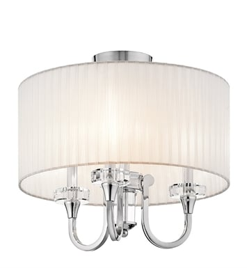Kichler 42630CH Parker Point Collection Semi Flush Chandelier 3 Light in Chrome
