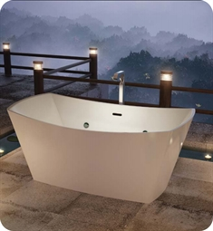 "BainUltra BEVKRF00 Evanescence 6634 66"" x 34"" Freestanding Customizable Bath Tub"
