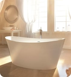 "BainUltra BEVLOF00 Evanescence Oval 6636 66"" x 36"" Freestanding Customizable Bath Tub"