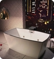 "BainUltra BCH2RF00 Charism 6434 64"" x 34"" Freestanding Customizable Bath Tub"