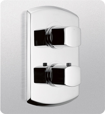 TOTO TS960D#CP Soirée® Thermostatic Mixing Valve Trim with Dual Volume Control With Finish: Polished Chrome