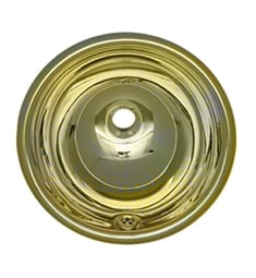 Whitehaus WH602BBL Round Drop-in Basin with Overflow and Polished Brass Finish