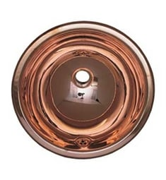 Whitehaus WH602CBL Round Drop-in Basin with Overflow and Polished Copper Finish