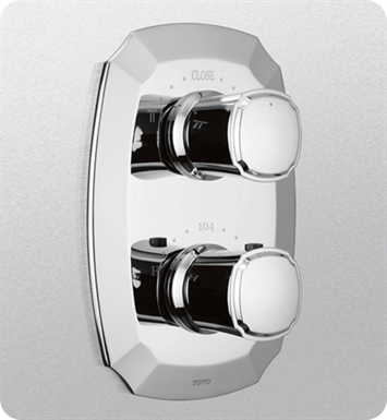 TOTO TS970D#CP Guinevere® Thermostatic Mixing Valve with Two-Way Volume Control Trim With Finish: Polished Chrome