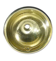 Whitehaus WH602BBC Round Crackle Textured Drop-in Basin with Overflow and Polished Brass Finish