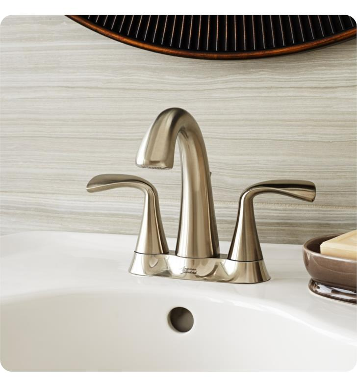 Polished Chrome American Standard 7186203.002 Fluent 4 Centerset Bathroom Faucet with Speed Connect Drain