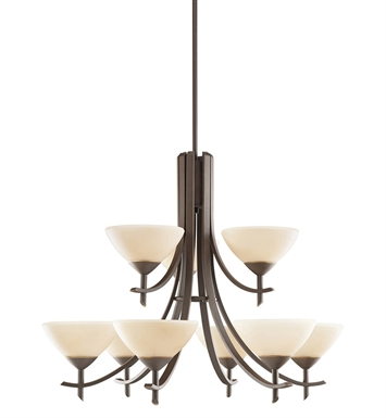 Kichler 1680OZ Olympia Collection Chandelier 9 Light in Olde Bronze