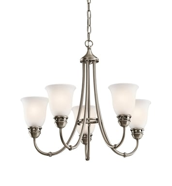 Kichler 42064AP Durham Collection Chandelier 5 Light in Antique Pewter